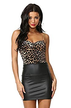 Cemi Ceri Women s Faux Leather Mini Skirt Small Black