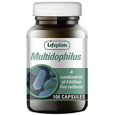 Lifeplan Multidophilus capsules x 100. Multi-dophilus for upper & lower digestive tract. 4 billion friendly bacteria