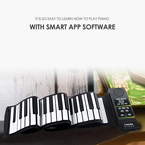 Great Features Of Chnzyr Safety Silicone Hand-Roll Piano USB Electronic Keyboard Hand Roll Piano wit...