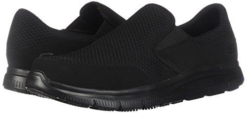 Skechers Men's Black Flex Advantage Slip Resistant Mcallen Slip On - 12 D(M) US