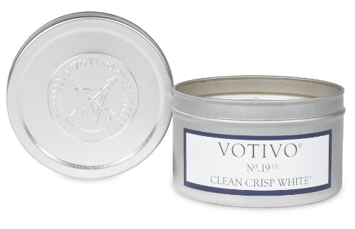 Votivo Travel Tin Candle Clean Crisp White