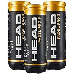 Head Padel Pro S, pack de 3 botes con 3 pelotas