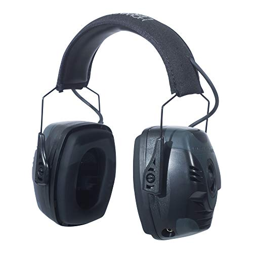 Howard Leight by Honeywell Impact Pro High Noise Reduction Rating Sound Amplification Electronic Shooting Earmuff for Indoor and Covered Ranges or Other Extremely Loud Shooting Environments (R-01902), Large