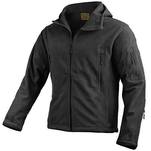 HIGHLANDER Veste polaire Tactical pour homme, noir, XL