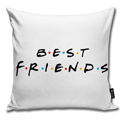 2060 pants Best Friends for Couple Cool Show Friends Tv Vintage Throw Pillow Covers 18 X 18 Inch (45 X 45cm) for Couch Bed Farmhouse Christmas Home Decorative