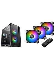 【セット買い】Thermaltake VIEW 51 TG ARGB フルタワーPCケース 強化ガラス スイングドアパネル CA-1Q6-00M1WN-00 CS7810 & Pure 12 ARGB Sync -3Pack- PCケースファン 12cm FN1284 CL-F079-PL12SW-A