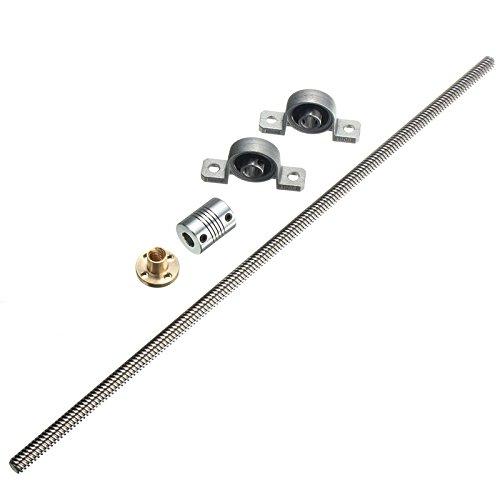 ILS - T8 8mm 350mm roestvrij staal schroefdraadspil lagerbok askoppeling voor 3D-printer
