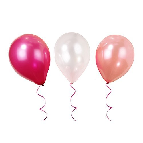 Talking Tables Pink and Mix Ballons Gonflables pour Anniversaire, Goûter Festif et Festivités, Rose (Paquet de 12)