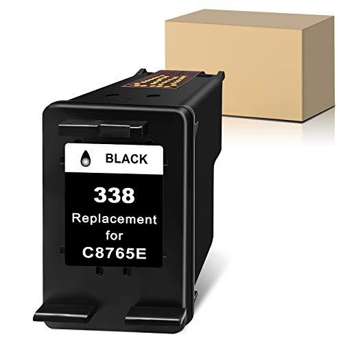 Sunnieink - Cartucho de tinta para HP 338 XL (1 unidad) para HP OfficeJet 7110 H470 100 6310 6210 4212 150 Photosmart C3180 C4180 8050 PSC 1510 1600 DeskJet 940 5 Impresora 940 5740.