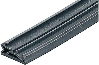 Gedotec Deurafdichting, 15 mm, siliconen deurafdichting, zwart, voor houten kozijnen, DS 155a, siliconen afdichting met gr...