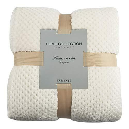 Souarts - Manta reversible reversible de piel para cama, sofá o cama, diseño reversible