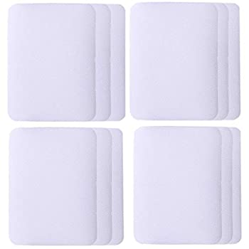 SHELCUP 4.9in X 3.8in 12PCS Twill White Iron on Patches for Clothing Repair Denim Patches for Jeans Kit Pant Patches Iron on Iron for Inside Jeans & Clothing Repair
