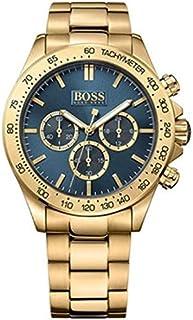 Hugo Boss Men's Blue Dial Gold Plated Band Dress Watch - 1513340