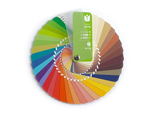 Farbpass Frühling (Warm Spring) als kleiner Fächer mit 35 typgerechten Farben zur Farbanalyse, Farbberatung, Stilberatung