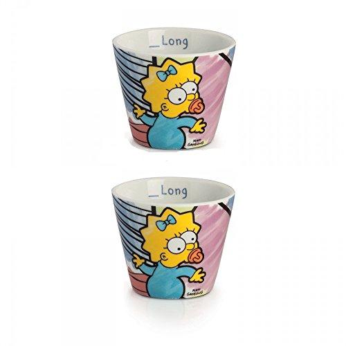 Egan PTS83/2R - Vasos de café modelo Maggie, porcelana, multicolor, 2 unidades