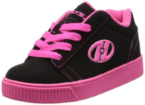 HEELYS Heelys Straight Up Skate Shoe (Toddler/Little Kid/Big Kid), Black/Pink, 8 M US Big Kid