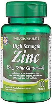Holland & Barrett High Strength Zinc 15mg (Zinc Gluconate)