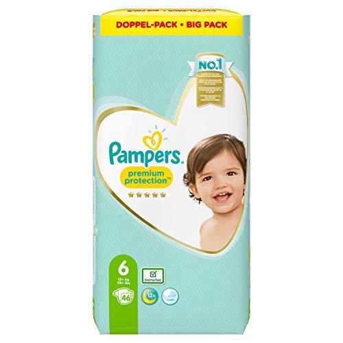 Pampers Premium Protection Windeln, Gr. 6, 13kg-18kg, Doppel-Pack (1 x 46 Windeln)