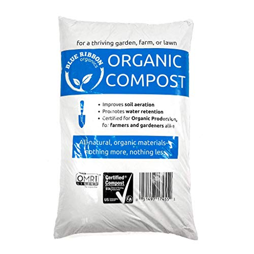 Blue Ribbon Organics B497 Organic Compost, 35-Pound Bag, Black