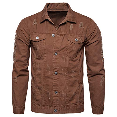 DOLAA Denim Jeanshemd Vintage Shirt Long Sleeve langärmliges Freizeithemd Normale Herrenjacke Herren Jeansjacke Herren Hemd Herren Jeansjacke aus 98% Baumwolle | Moderne Jeans Jacke