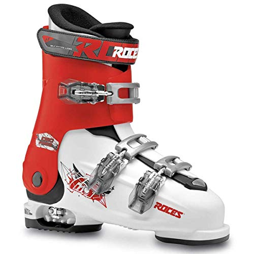 Roces Idea Free Kids Ski Boots - 22.5-25.5/White-Red-Black