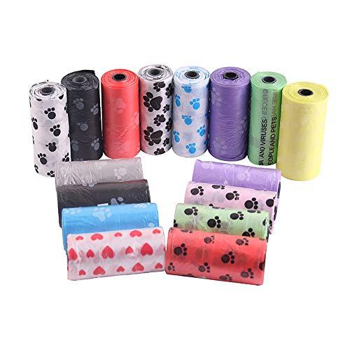 Jnzr hond toilettas, huisdier outdoor pickup tas veilig niet-toxische ontvettingsbare lekvrije hond afvalzak anti-stretching kleur willekeurig (50 stuks)