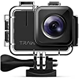 APEMAN TRAWO Action Cam A100, Nativo 4K/50FPS 20MP WiFi Impermeabile 40M Fotocamera Subacquea...