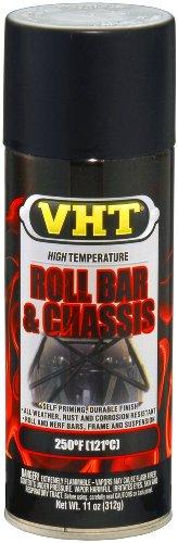 VHT ESP671007-6 PK Satin Black High Temperature Roll Bar and Chassis Paint - 11 oz. Aerosol, (Case of 6)