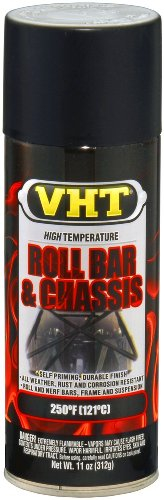 VHT ESP671007-6 PK Satin Black High Temperature Roll Bar and Chassis Paint - 11 oz. Aerosol, (Case of 6)