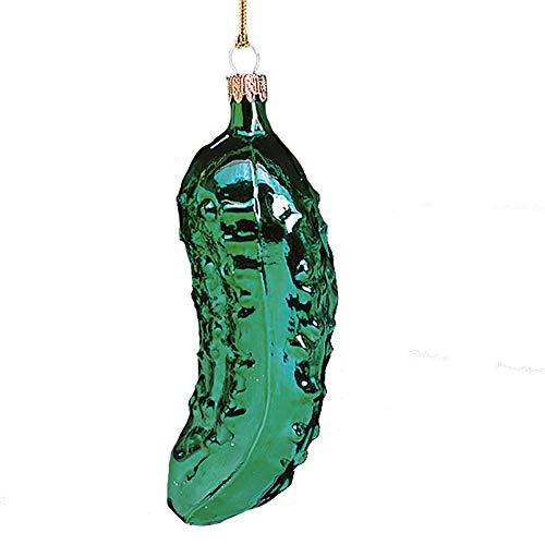 Kurt Adler Noble Gems Hand Blown Glass Old World Pickle Ornament
