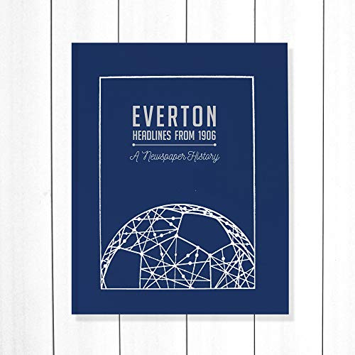 Signature gifts Everton Newspaper Headlines Football Book, Toffees Gift (Buy Now Personalise Later) Approx A3 in size - NOW UPDATED with 2020/21 Season Content!