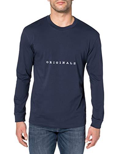 Jack & Jones JORCOPENHAGEN tee LS Crew Neck Camiseta de Manga Larga, Azul Marino. Ajuste: Relajado. Estampado Org, XXL para Hombre