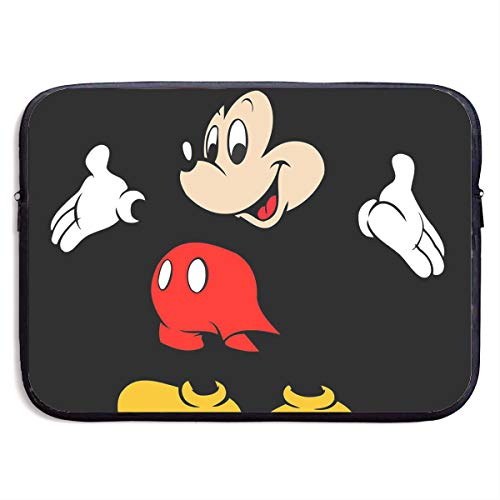 CHLING Happy Mickey Mouse Laptop Sleeve 13-15 Inch Waterproof Bag Case Briefcase Compatible with MacBook Air/Notebook