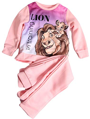 König der Löwen meisje joggingpak sweatshirt + broek kinderen 3 4 6 8 jaar 98 104 116 128 cm roze pyjama pyjama pyjama huispak leeuw in training