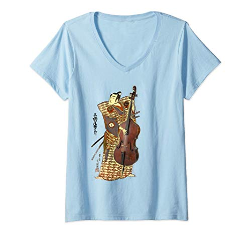 Mujer Retro Double Bass Funny Jazz Instruments Music