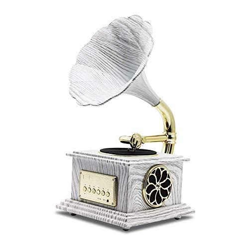 SXLCKJ Tocadiscos, Tocadiscos Bluetooth, Tocadiscos Retro, Tocadiscos con Altavoces estéreo incorporados, diseño de Maleta