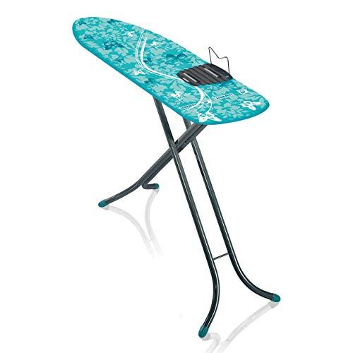 Leifheit Bügeltisch AirBoard M Shoulder Compact 60years Color Edition grün, ultraleichtes Bügelbrett mit Schulterpassform für Dampfbügeleisen, Dampfbügeltisch mit Zwei-Seiten-Bügeleffekt