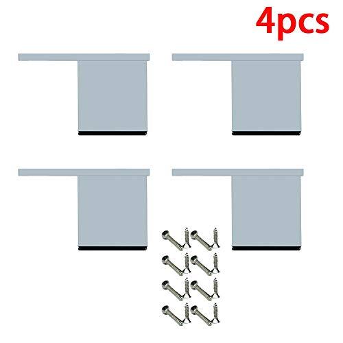 Meubels Voeten 4 Stuks Met Vierkante Aluminiumlegering Niet Verstelbare Kast Voeten Voor Sofa Benen Badkamermeubel Voeten Salontafel Voeten TV-Meubel Voeten,4cm