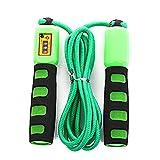 Aoten Comba de saltar con cuenta ajustable, resistente al viento, para actividades en interiores y exteriores.
