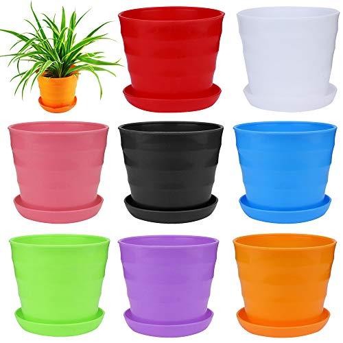 DQANIU 🌵🌵 Bunte Mini Kunststoff Blumentopf Sukkulente Blumentopf Home Office Decor Gartenpflanze Blumentopf