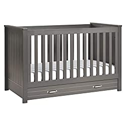 This image shows DaVinci Asher 3-in-1 that is one of the best cribs with storage underneath in my review