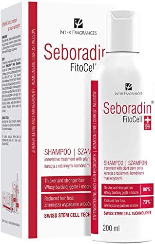 Seboradin Haarausfall und Nachwachsen Fitocell Shampoo mit Schweizer Technologie Stammzellen Phytocelltec™ Malus Domestica und Biotin, für Männer und Frauen, 200 ml
