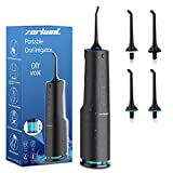 Water Flosser 2020 Upgraded, Water Flosser Teeth Cleaner with DIY Mode, Rechargeable Oral Irrigator for Braces, Bridges, Implants Care, IPX7 Waterproof With 4 Interchangeable Jet Tips