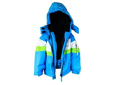 Mädchen Skianzug Skihose Skijacke Snowboardhose Snowboardjackre Schneehose Türkis/Weiß 134/140 - 5