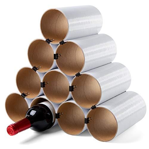 corpus delicti :: Weinheim - Flaschenregal - Weinregal aus Hartpapier - Basisversion für bis zu 19 Flaschen - erweiterbar (10 Hülsen weiß) (76.1w)