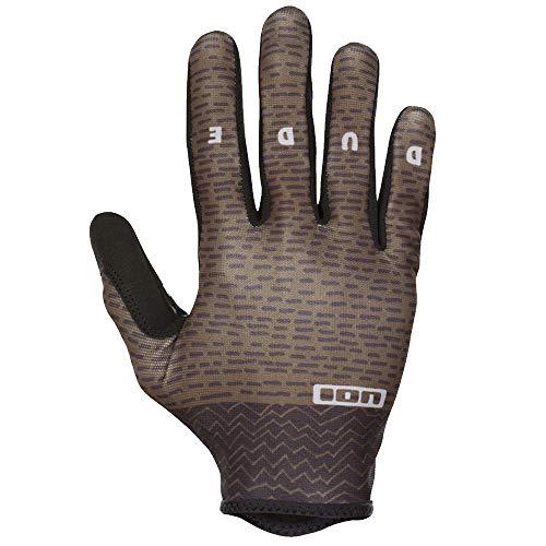 Ion Dude MX DH FR Fahrrad Handschuhe lang Oliv grün 2018: Größe: L