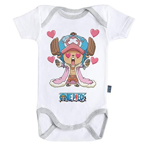 Baby Geek Chopper - One Piece ™ - Licence Officielle - Body Bébé Manches Courtes (3-6 Mois)