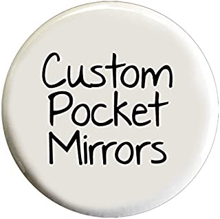 Custom Pocket Mirrors - 2.25 Inch Round Promotional Mirrors in Wholesale Bulk (Set of 100)