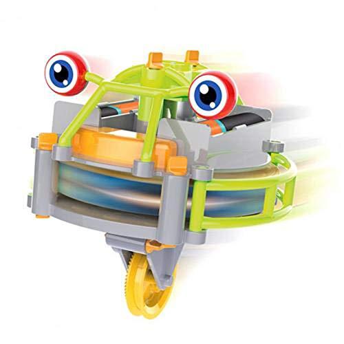 AMZYY Carretilla Robot Foreverspin Spinning Tops Giroscopio de La Yema del Dedo Cuerda Floja Caminar Carretilla Robot Juguete Juguete Educativo Juguete para Interiores y Exteriores para Niños,C