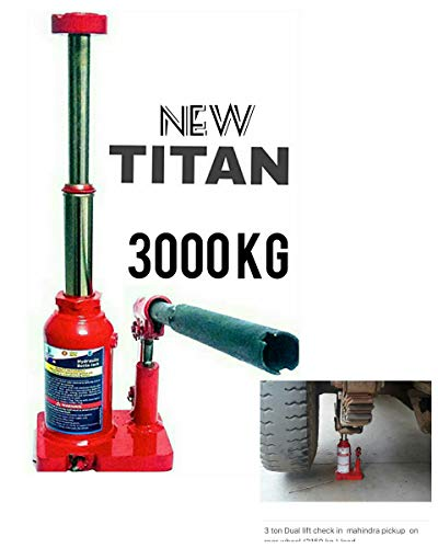 Atlas Titan Car Hydraulic Bottle Jack 3 Ton Double Lift for All Cars and SUV